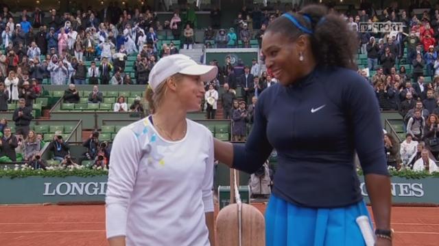 1-4 dames, S.Williams (USA-1) – Yulia Putintseva (KAZ) (5-7 6-4 6-1). Serena Williams l'emporte finalement en 2h09' de jeu [RTS]