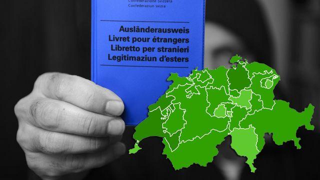 Les résultats définitifs de la modification de la loi sur l'asile. [Keystone]