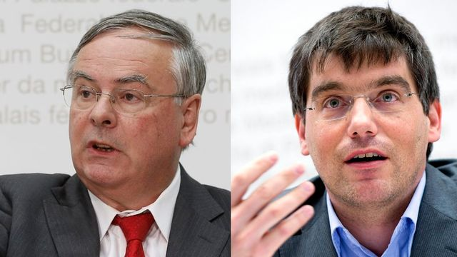 Jean-François Rime (UDC) et Roger Nordmann (PS). [Peter Klaunzer/Marcel Bieri - Keystone]