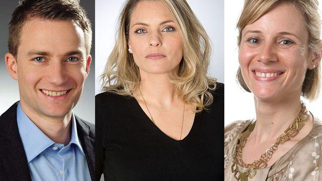 Alexandre Habay, Céline Tzaud et Catherine Ilic. [Jay Louvion, Philippe Christin, Nadia Kara - RTS]