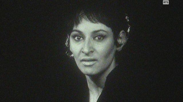 La chanteuse Barbara en 1965. [RTS]