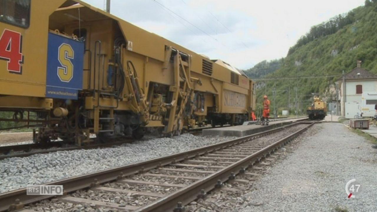 L'entretien du réseau ferroviaire suisse sera conséquent et planifié la journée également [RTS]