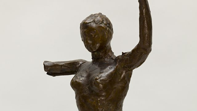 Edgar Degas, Danseuse s'avançant, les bras levés, jambe droite en avant [© Musée cantonal des Beaux-Arts de Lausanne]