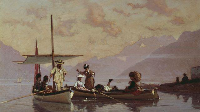 François Bocion - Bocion et sa famille à la pêche, 1877 [© Musée cantonal des Beaux-Arts de Lausanne]