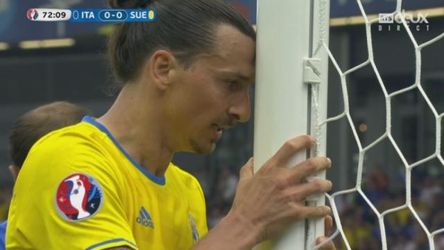 Gr.E, ITA-SUE (0-0): signalé hors-jeu, Ibrahimovic s'illustre en ratant l'immanquable [RTS]