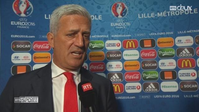 Gr. A, FRA-SUI (0-0): Le sélectionneur de la Suisse à l'interview [RTS]