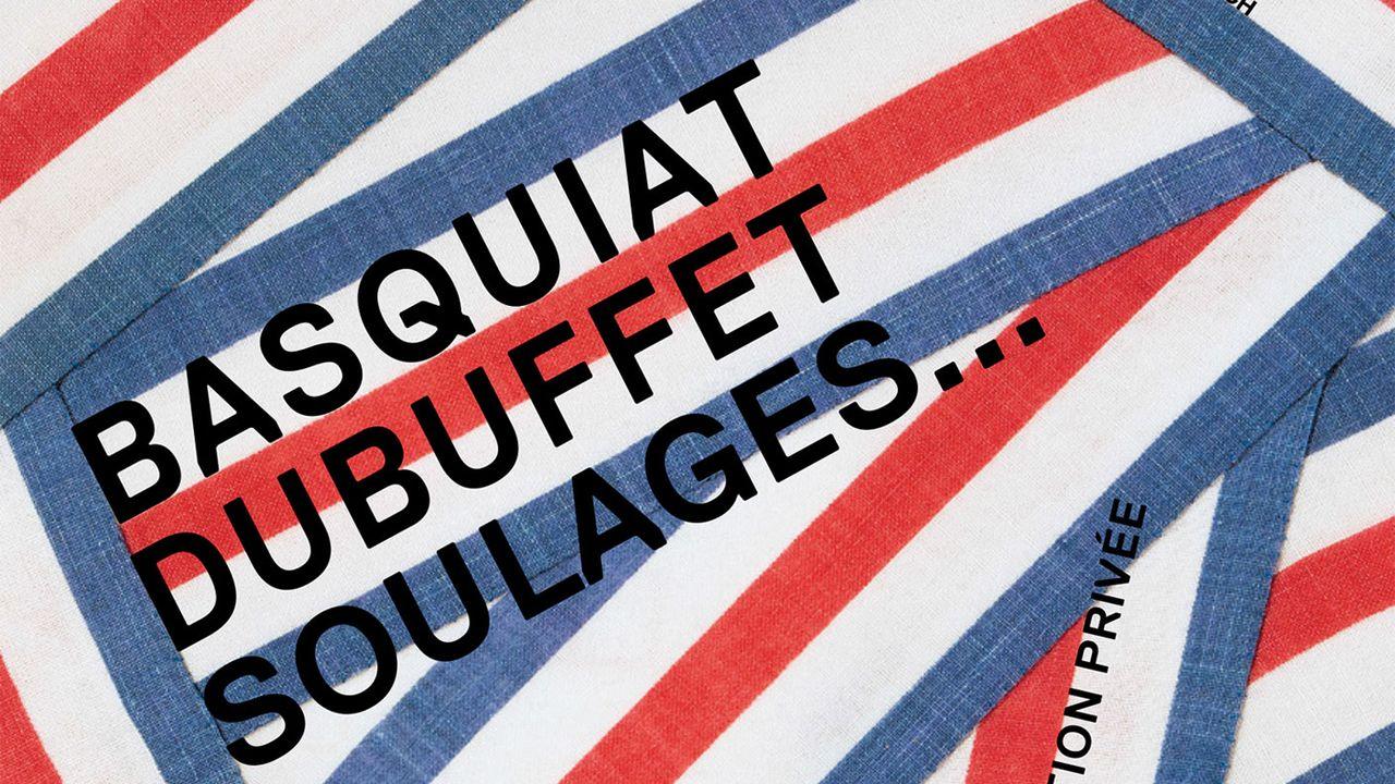 """""""Basquiat, Dubuffet, Soulages...Une collection privée"""", affiche de l'exposition (avec un détail de l'œuvre Sans titre, de Louise Bourgeois). [Laurent Cocchi  - fondation-hermitage.ch]"""
