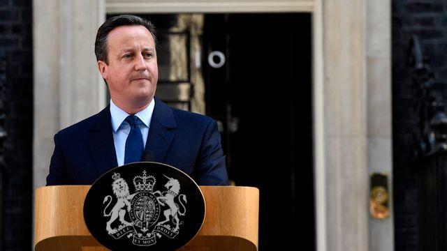 David Cameron s'est exprimé devant le 10, Downing Street, à Londres. [Keystone]