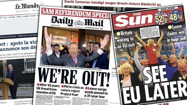 """Tour d'horizon des gros titres et analyses de la presse suite au """"Brexit"""""""
