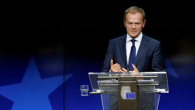 Le président du Conseil européen Donald Tusk à Bruxelles mercredi. [Francois Lenoir - Reuters]