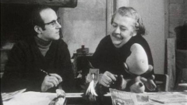 Derib et Job en 1970, dessinateur et scénariste de Yakari [Capture Ecran Livres pour toi 1970 - RTS]