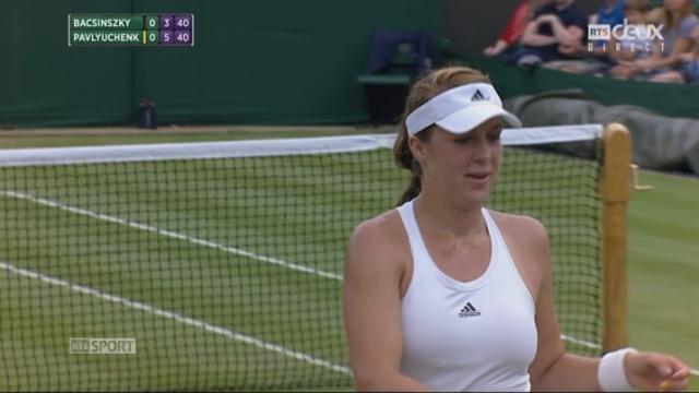 Dames, 3e tour: Timea Bacsinszky (SUI) - Anastasia Pavlyuchenkova (RUS) (3-6): [RTS]