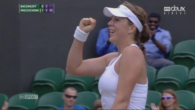 Dames, 3e tour: Timea Bacsinszky (SUI) - Anastasia Pavlyuchenkova (RUS) (3-6, 2-6): [RTS]