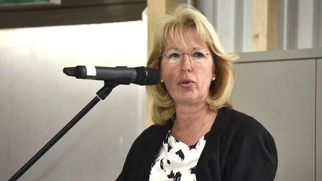 La conseillère d'Etat Jacqueline de Quattro. [Christian Brun - Keystone]