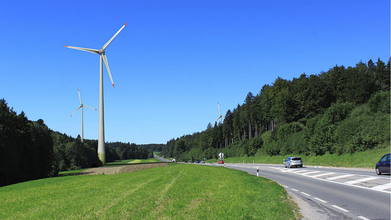 Projet de parc éolien EolJorat Sud, photomontage. [Profil Paysage - eoljorat.ch]