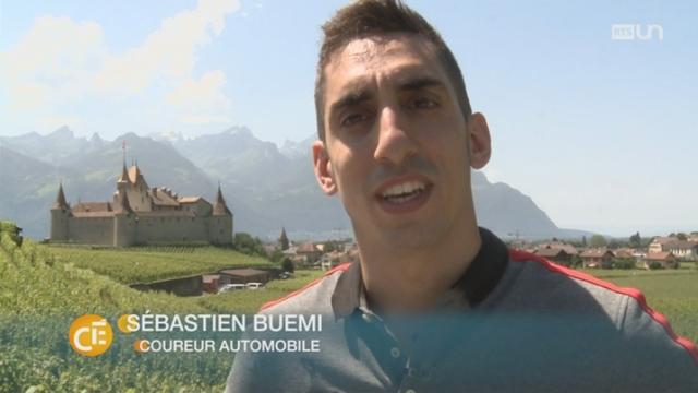 Le champion de Formule E Sébastien Buemi est revenu vivre dans son fief à Aigle (VD) [RTS]