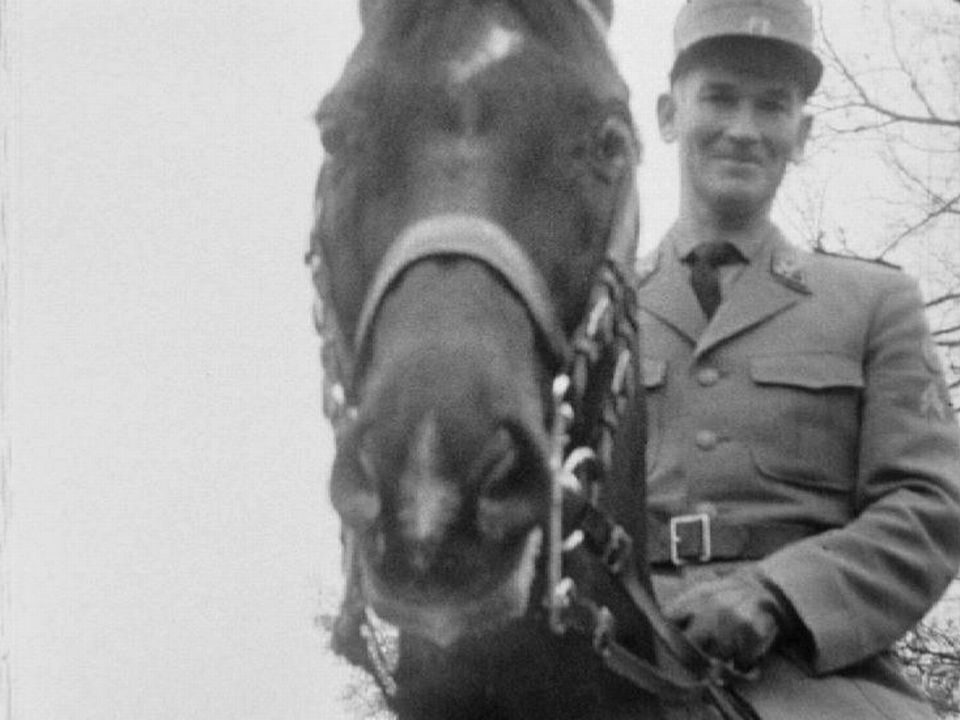 Henri Chammartin et son cheval Wörmann, 1964. [RTS]