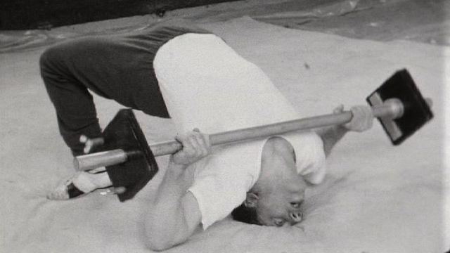 Les frères Martinetti à l'entraînement en 1967. [RTS]