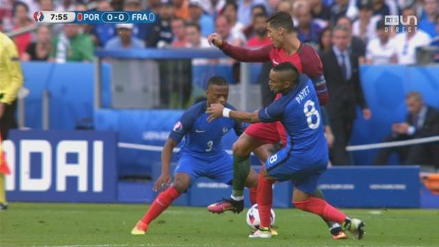 Finale POR-FRA (0-0): l'action de D. Payet oblige C. Ronaldo à quitter le terrain quelques minutes plus tard [RTS]
