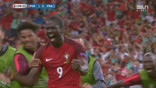 Finale, POR-FRA (1-0): Eder ouvre le score pour le Portugal ! Lloris se fait surprendre et ne réussit pas à intervenir. [RTS]