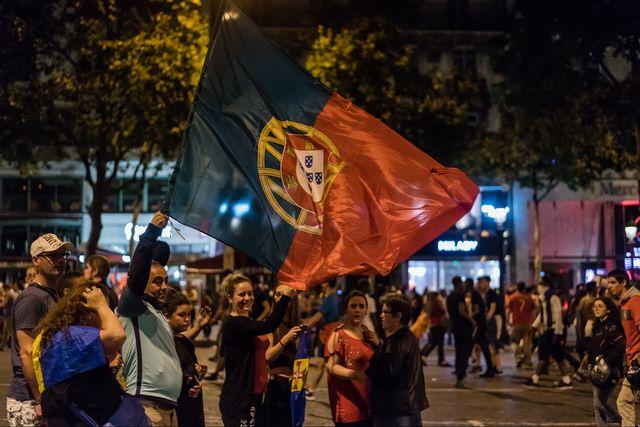 La joie des Portugais après le triomphe de leur équipe. [Samuel Boivin - AFP]