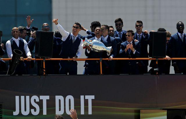 L'accueil réservé à Ronaldo et ses coéquipiers a été des plus bruyants. [Paulo Duarte - Keystone]