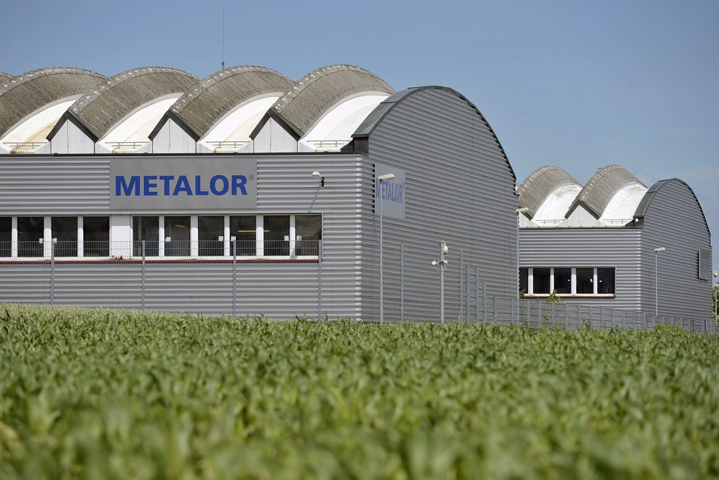 Le site de Metalor à Marin (NE).