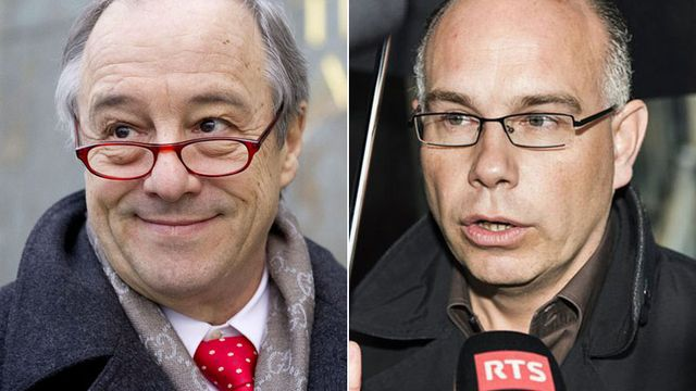 Charles Poncet et Nicolas Mattenberger. [Jean-Christophe Bott - Keystone]