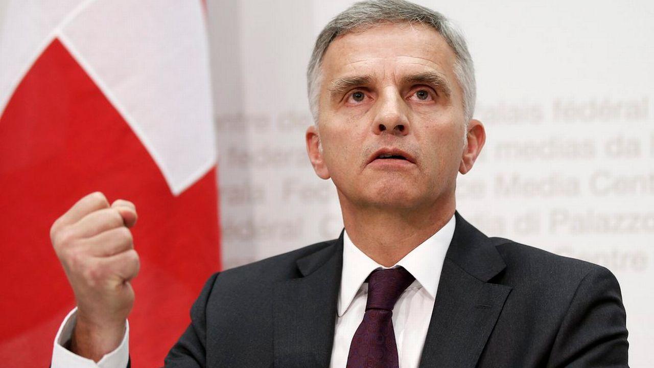 Le conseiller fédéral Didier Burkhalter. [Peter Klaunzer - Keystone]