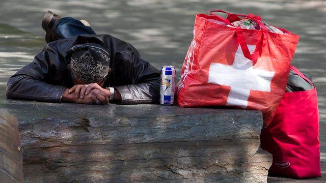 La pauvreté a touché une personne sur 13 en Suisse en 2012 (image d'illustration) [Salvatore Di Nolfi - Keystone]