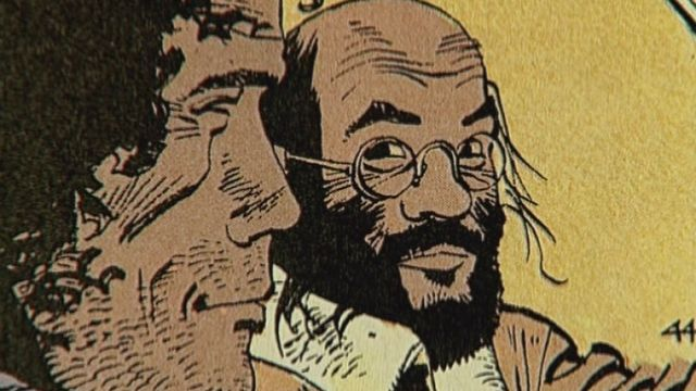 Dessin de Cosey et Derib, dessinateurs suisses de bande dessinée [Capture Ecran Racines 2007 - RTS]