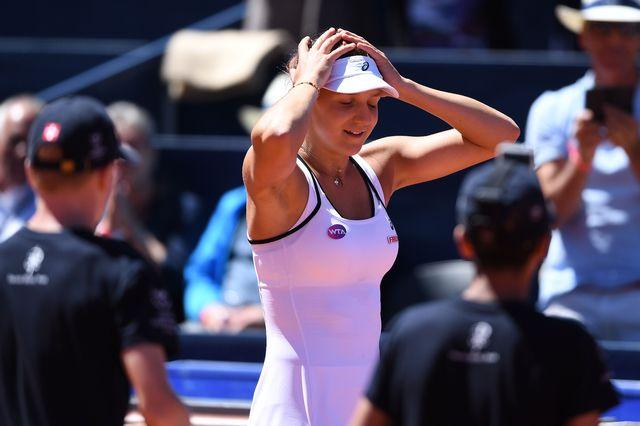 Lauréate du récent tournoi de Roland-Garros juniors, Masarova s'est imposée en 1h08 face à Beck. [Valeriano Di Domenico - EQ]