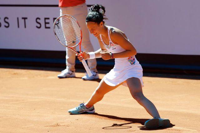 Viktorija Golubic a dominé sa jeune compatriote Rebeka Masarova. [Peter Klaunzer - Keystone]