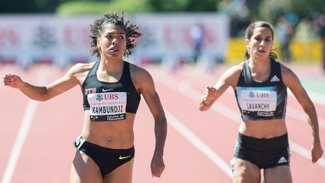 Mujinga Kambundji ne participera pas au 200 m de dimanche pour se préserver pour les Jeux de Rio. [Martial Trezzini - Keystone]