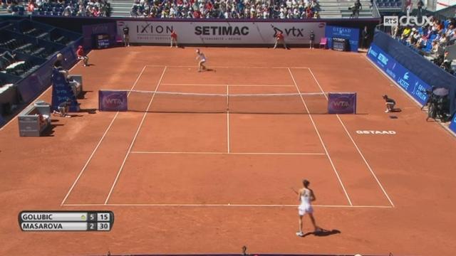 Tennis - WTA de Gstaad: Timea Bacsinszky s'est inclinée face à Kiki Bertens [RTS]