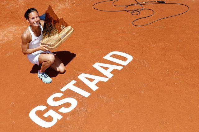 Golubic a tenu bon face à la solide Kiki Bertens (WTA 26). [Peter Klaunzer - Keystone]