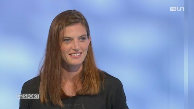 Athlétisme - Championnats de Suisse: Léa Sprunger évoque sa victoire au 200m (1-2) [RTS]