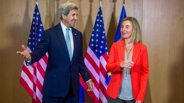 Le secrétaire d'Etat américain John Kerry est également à Bruxelles ce lundi 18.07.2016. [Stéphanie Lecocq - Pool/AFP]