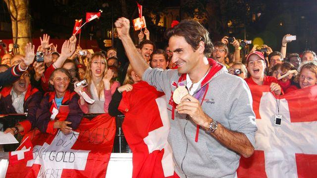 En 2012 à Londres, la Suisse avait remporté deux médailles d'or (Nicola Spirig et Steve Guerdat) et deux d'argent (Roger Federer et Nino Schurter). [Peter Klaunzer - Keystone]