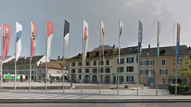 La place de l'Octroi à Carouge (GE). [Google Street View]