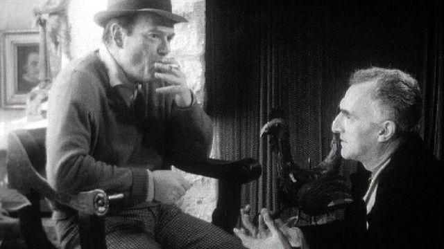 Rodolphe-Maurice Arlaud et Eddie Constantine en 1965. [RTS]