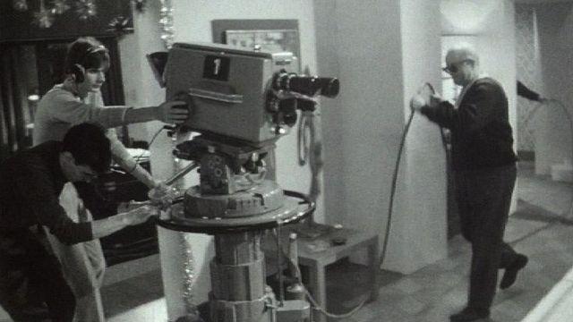 Enregistrement en direct d'une dramatique télévisée, années 60. [RTS]