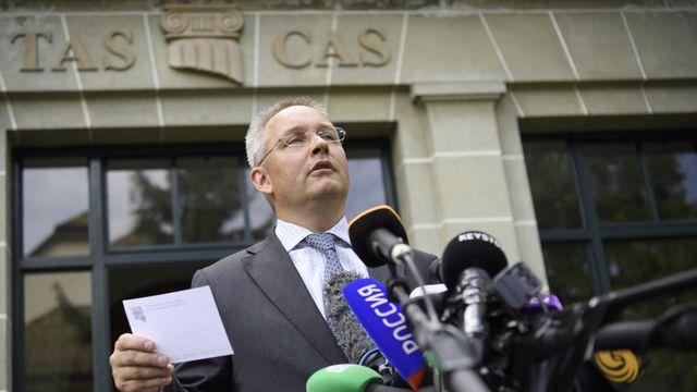 Matthieu Reeb, secrétaire général du TAS, mercredi à Lausanne. [Laurent Gilliéron - Keystone]