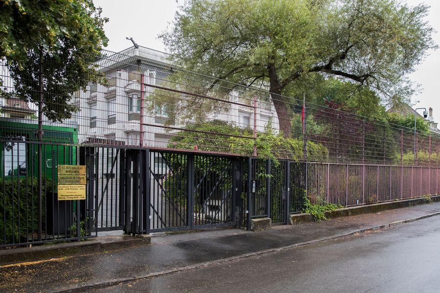 L'ambassade de Turquie à Berne, le 22 juillet 2016.