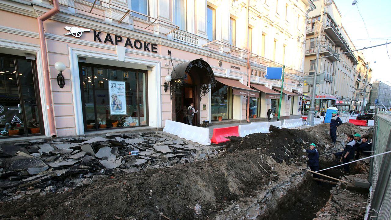 Tout le centre-ville de Moscou n'est plus qu'un vaste chantier. [Vitaliy Belousov - RIA Novosti/Sputnik/AFP]