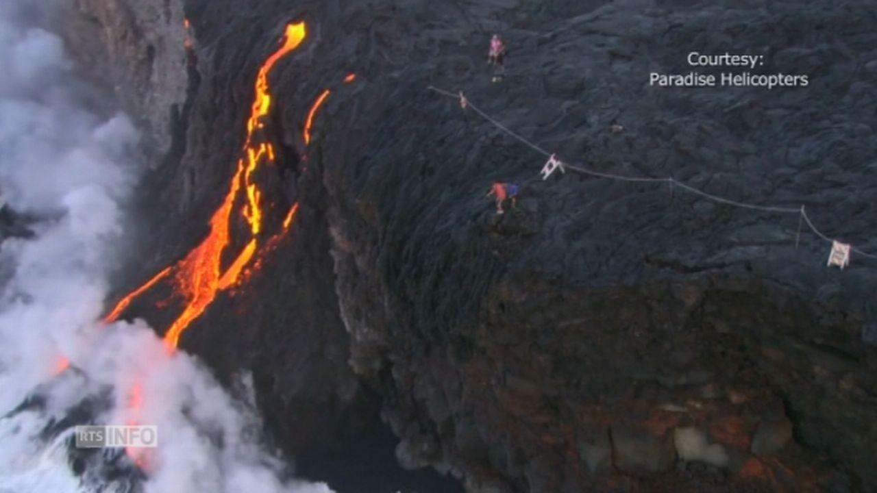 La lave du volcan Kilauea à Hawaï atteint l'océan [RTS]
