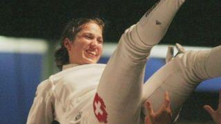 """7) Sophie Lamon: ses conseils à Tiffany Géroudet. """"Qu'elle profite de ces Jeux olympiques. Tout l'enjeu est de se laisser prendre par l'esprit olympique sans se laisser submerger par la pression"""" [RTS]"""