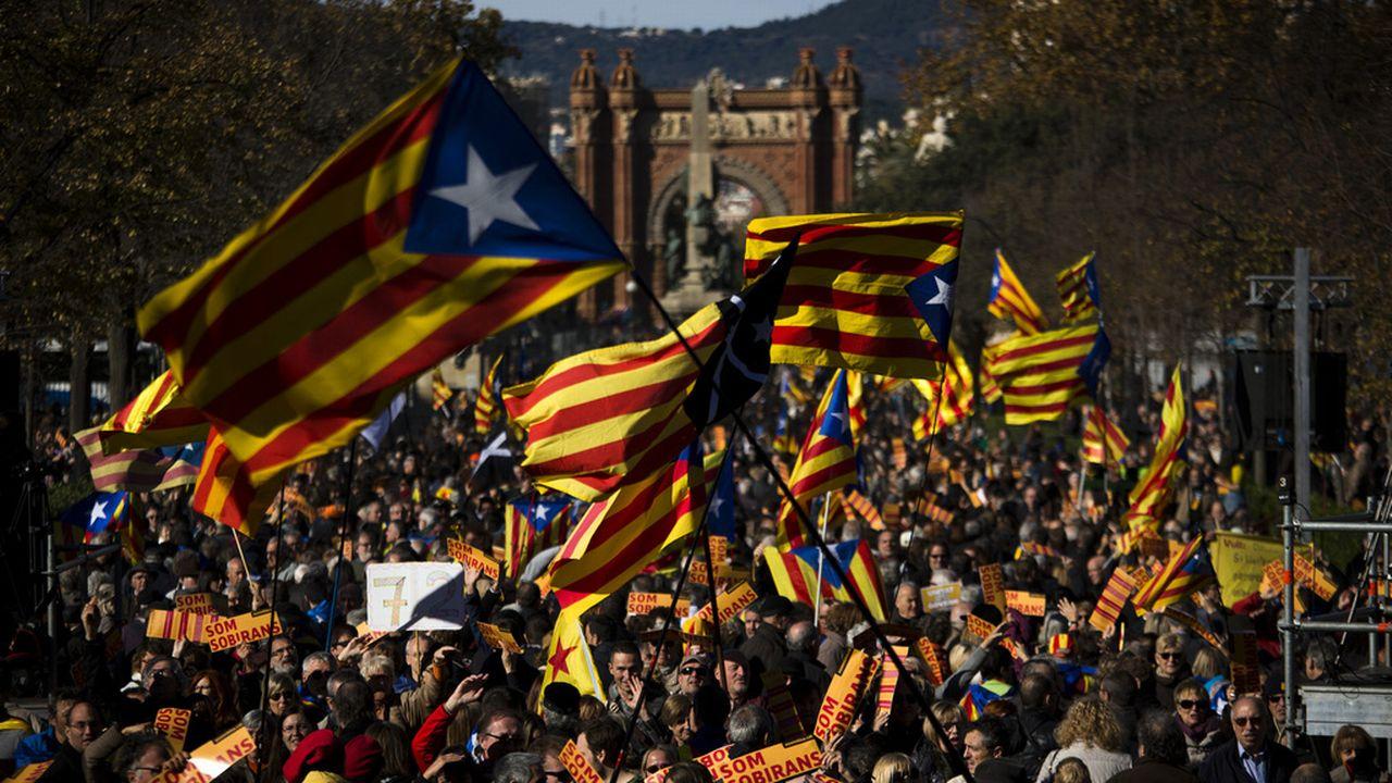 Manifestation en faveur de l'indépendance de la Catalogne [Emilio Morenatti - Keystone]