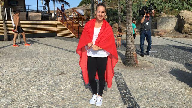 A Rio, Giulia Steingruber est fière de représenter son pays. [Miguel Bao - RTS]