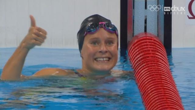 Natation: 400m 4 nages, la Suissesse Martina Van Berkel finit 1ère de sa série ! [RTS]